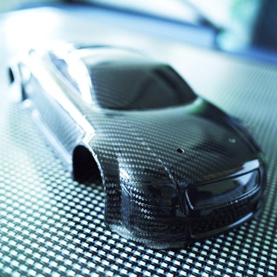 Carbon fibre model car